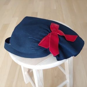 vintage one of a kind felt hat from NYC millinery
